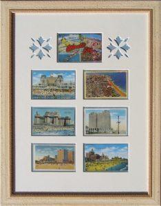 Framed Vintage Atlantic City Postcard Montage