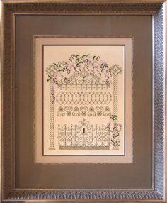 Design Star Award Winning Cross stitch Gate with Fillet