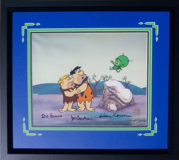 A Framed Flintstones Animation Cel