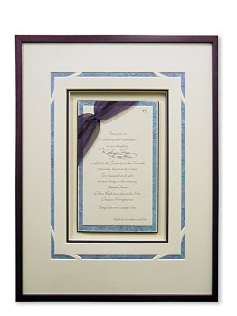 Framed Bat Mitzvah Invitation
