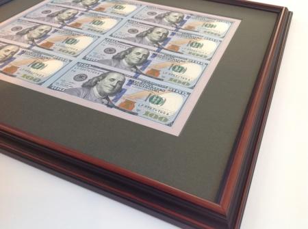 Framed Money US bills