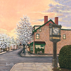 Howard Geyer Newtown Clock-$80