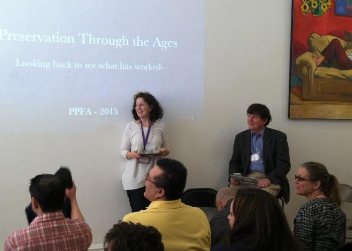 Susan Gittlen attends preservation workshops.