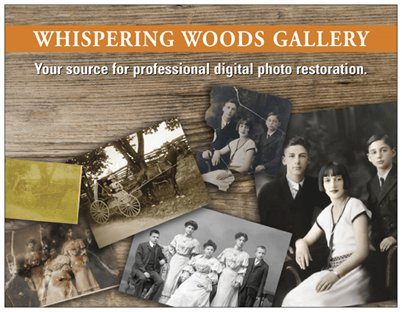 Photo restoration by Whispering Woods Gallery in Bucks County, PS