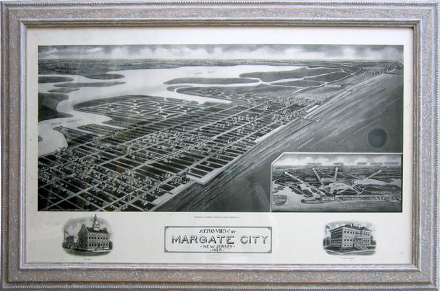 Margate City, NJ Birdseye Map
