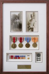 Custom Framed WWII Medals and photos