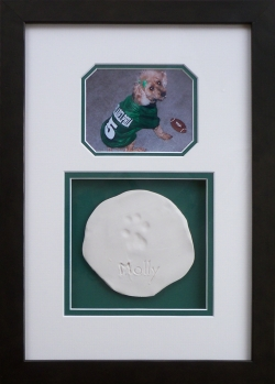 Framed Dog Photo and Paw Print