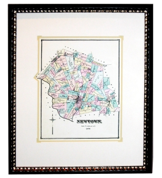 Framed Newtown, Pa Map