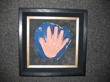 Paper Mache Hand Print