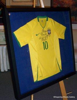 Framed Pele Jersey