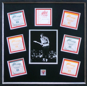Stevie Ray Vaughan Guitar Strings, Photo and Guitar Pick