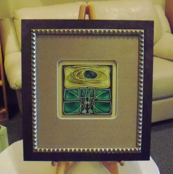 Framed Vintage Art Nouveau Tile