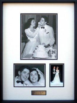 Framed Wedding Photos and Cake Topper