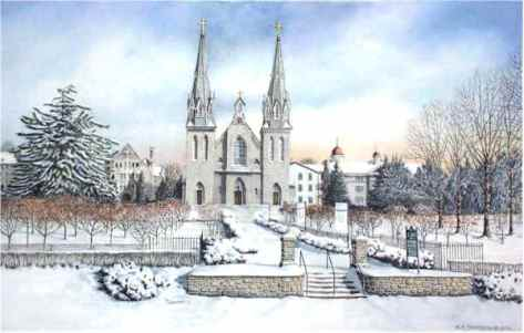 Santoleri Church at Villanova University print