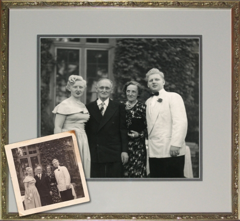 Vintage 40's Wedding Snapshot