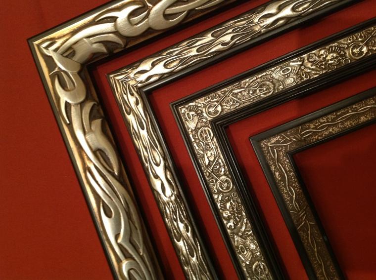 Frames by airbrush artist Dennis Mathewson..