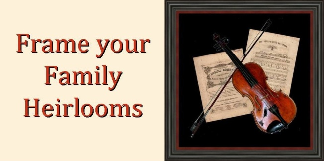 Custom Framed Sheet Music and Violin