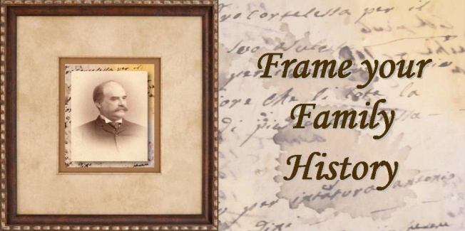 Citizenship papers, marriage certificates, family trees, family photos can be custom framed.