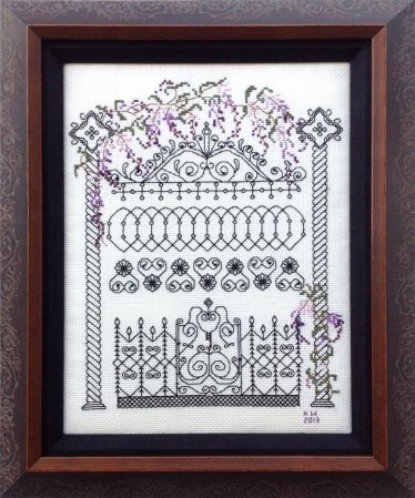 Cross Stitch Blackwork Framing