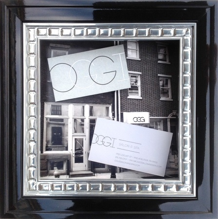 Custom Framed Business Card and Business Photo