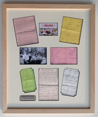 Custom Framed Family Recipes with Photos and Engraved Plate
