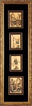 Custom Framed Hummels in Montage 1940's