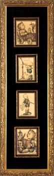 Custom Framed Hummels in Montage 1940's
