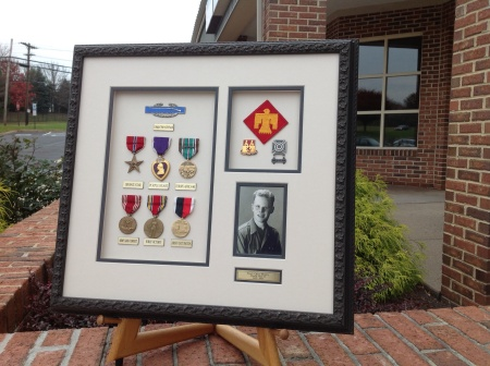 Archival Custom Framing of WWII Military Medals and Photo