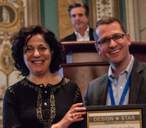 Design Star Award Susan Gittlen and Larson Juhl CEO Drew Van Pelt