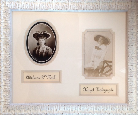 Two Vintage Photos in a Roma Photo Frame with Typeset Name plates