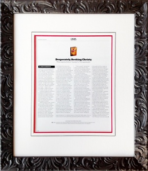 Framed New York Times Magazine article