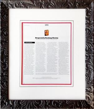 Framed New York Times Magazine article