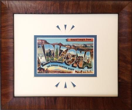 Vintage Arizona Large Letter Postcard