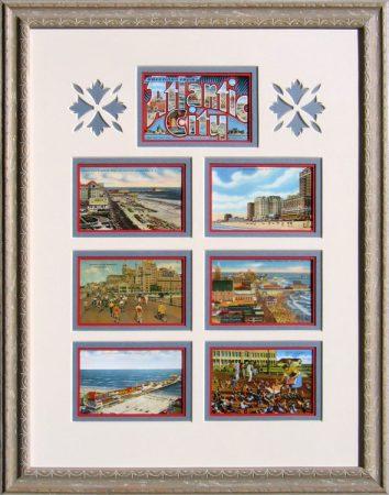 Vintage Atlantic City, NJ postcard Montage