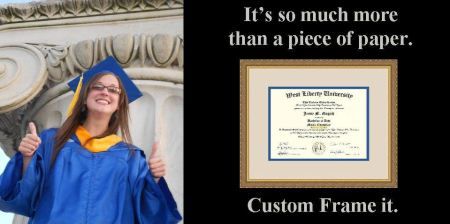 Diploma Framing at Whispering Woods Gallery