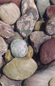 River Rocks I by Karen Eckelmeyer