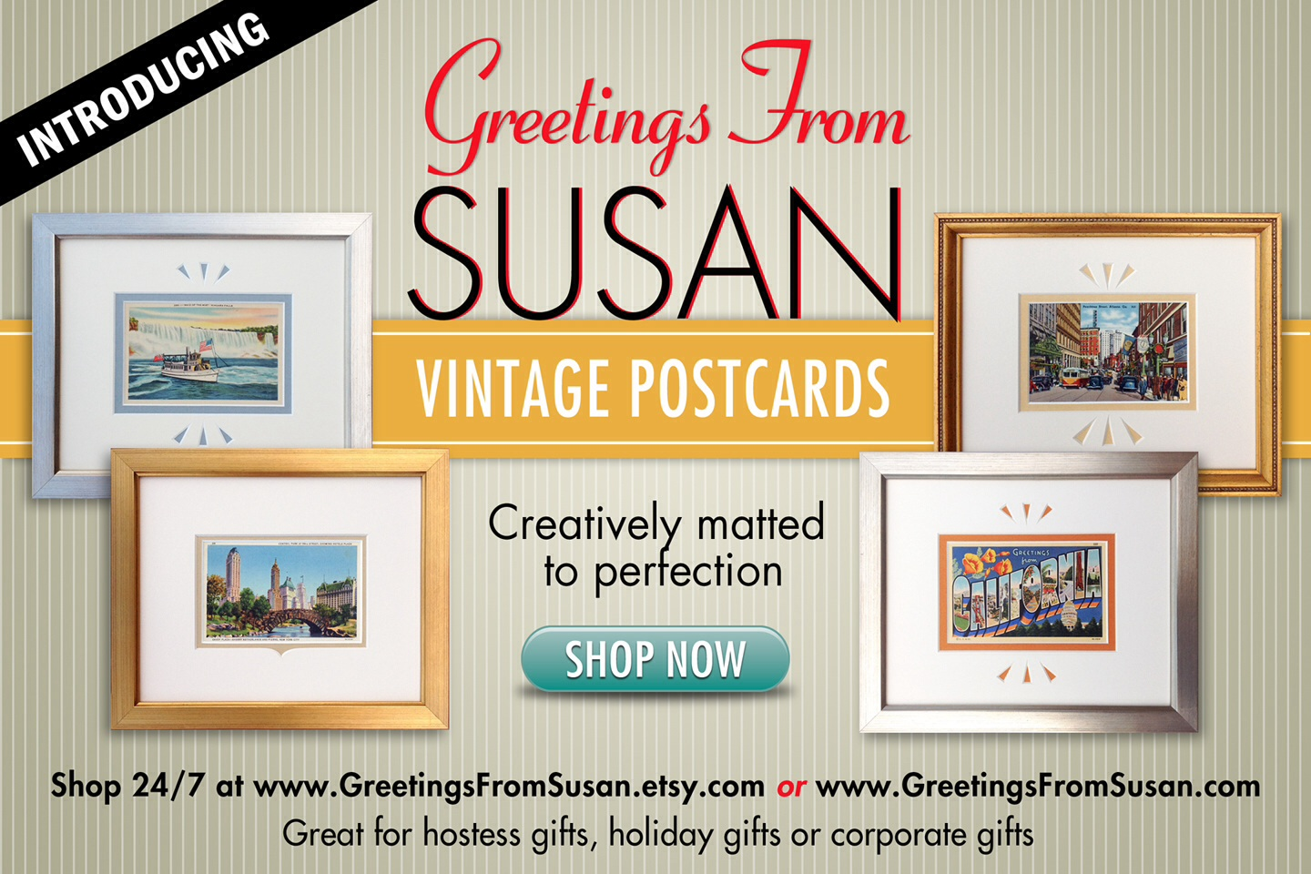 Vintage Postcard Shopping Website