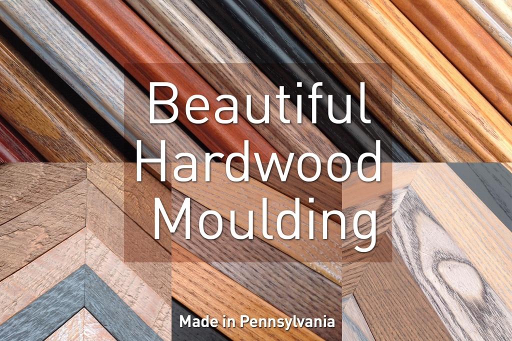 Solid hardwood frame moulding made in Pennsylvania