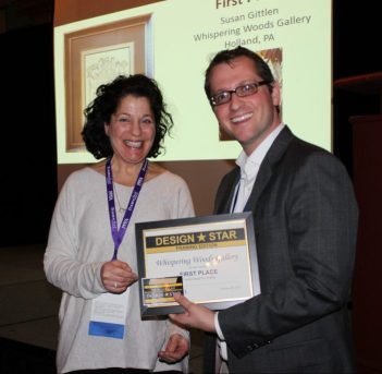 Textile Framing Award for Whispering Woods Gallery