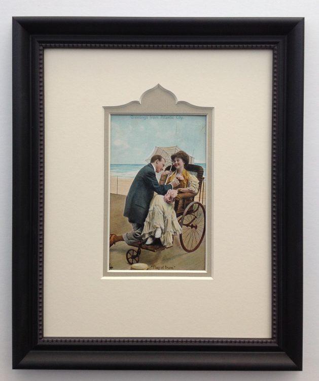framed vintage postcards   Whispering Woods Gallery