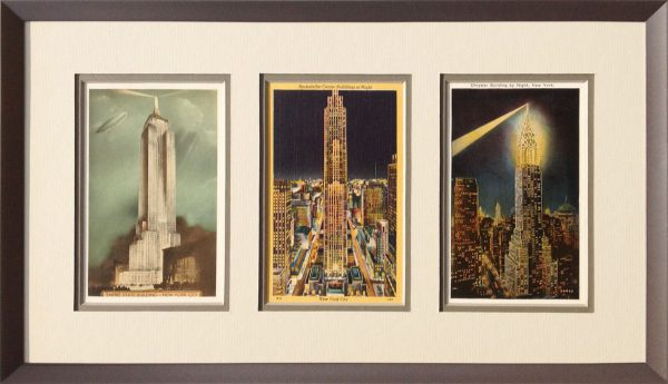 framed vintage postcards – Whispering Woods Gallery