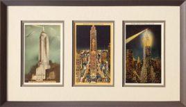 NYC Skyscraper vintage postcard trio