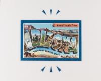 Greetings From Arizona vintage postcard