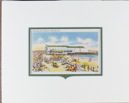 Cape May, NJ Municipal Pier postcard