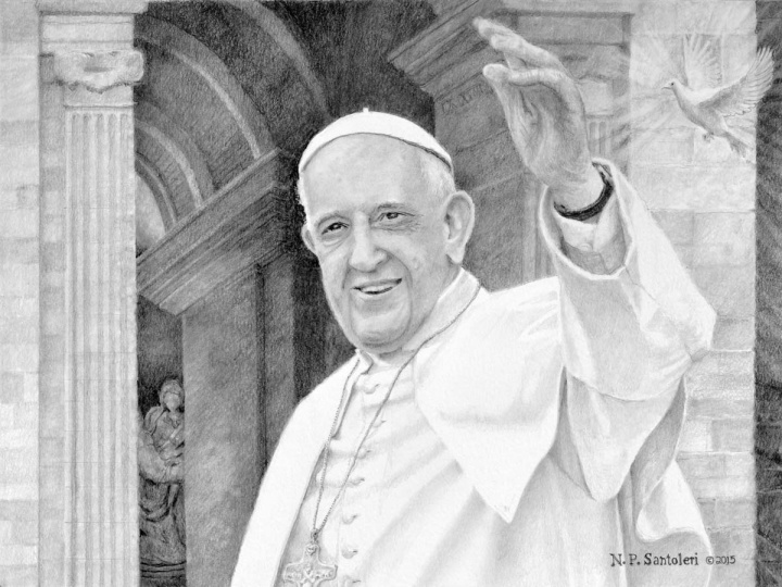 Pope Francis print by Nicholas Santoleri