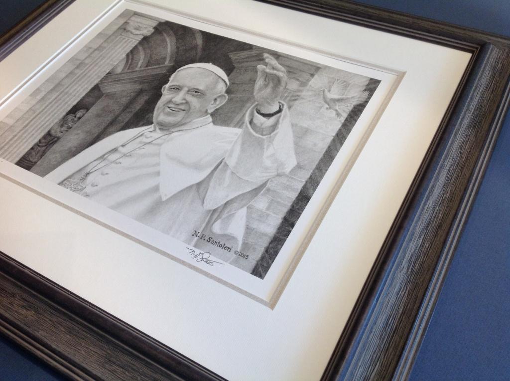 Pope Francis print framed