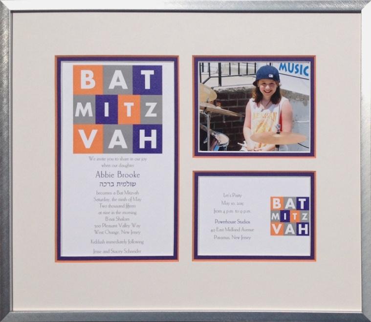 Framing of Bar and Bat Mitzvah Invitations