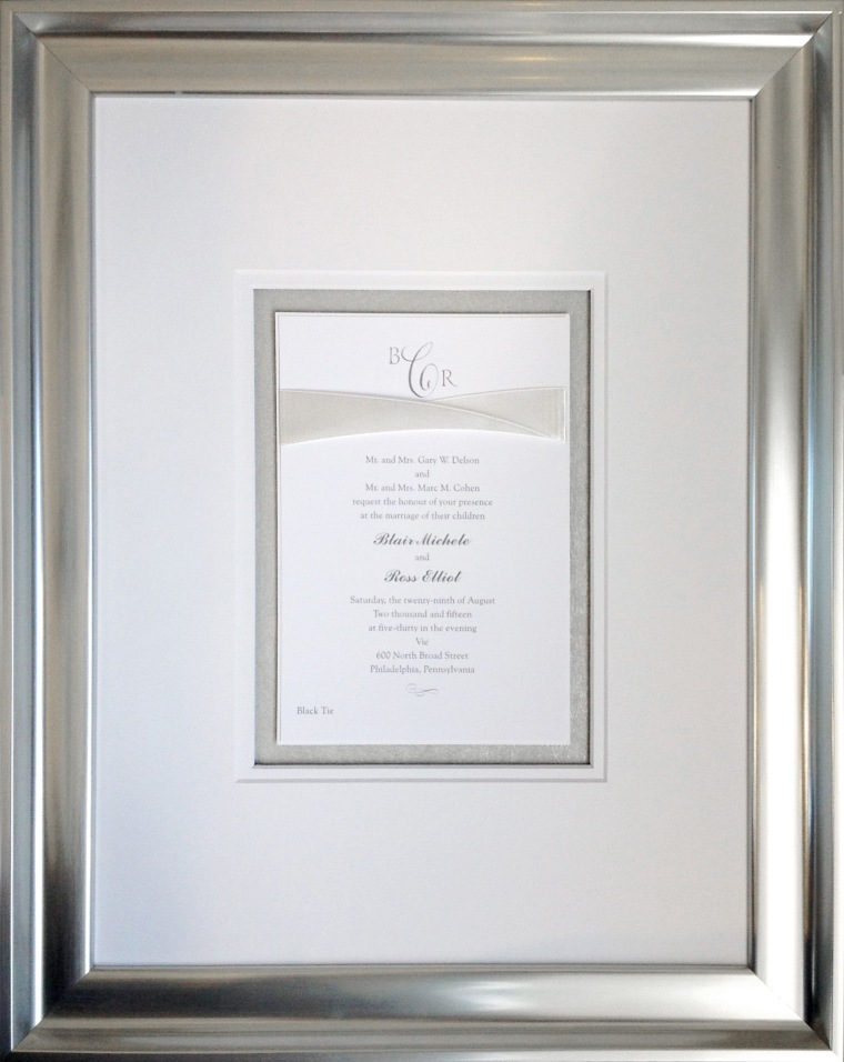 Custom Framed Formal Wedding Invitation