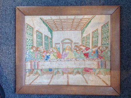 Vintage Stitchery Framing