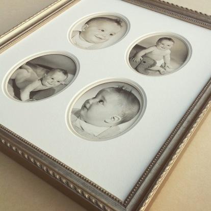 1940's baby photos custom framed